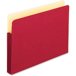 "TOPS Expanding File Pocket, 3 1/2"" Expansion, Legal, Red"