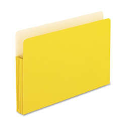 "TOPS Expanding File Pocket, 3 1/2"" Expansion, Legal, Yellow"