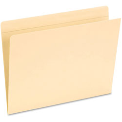 Pendaflex Pocket Folders, Straight Cut, Top Tab, Letter, Manila, 50/Box