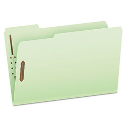 "Pendaflex Pressboard Folders, 2 Fasteners, 3"" Expansion, 1/3 Tab, Legal, Green, 25/Box"