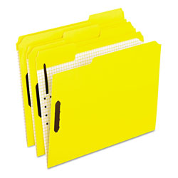 Pendaflex Colored Folders With Embossed Fasteners, 1/3 Cut, Letter, Yellow, 50/Box