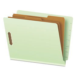Pendaflex Pressboard End Tab Classification Folders, Letter, 2 Dividers/6 Section, 10/Box