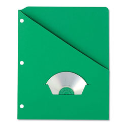 Pendaflex Essentials Slash Pocket Project Folders, 3 Holes, Letter, Green, 25/Pack