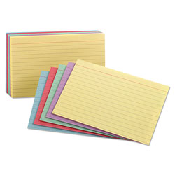 Pendaflex Ruled Index Cards in Assorted Colors, 5 x 8, Standard Colors, 100 Cards/Pack