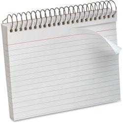 "Oxford Spiral Bound Index Cards, Ruled, Perforated, 5""x8"", White"
