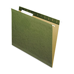 Pendaflex Hanging File Folders, 1/3 Tab, Letter, Standard Green, 25/Box