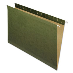 Pendaflex Hanging File Folders, No Tabs, Legal, Standard Green, 25/Box