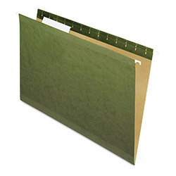 Pendaflex Hanging File Folders, 1/3 Tab, Legal, Standard Green, 25/Box
