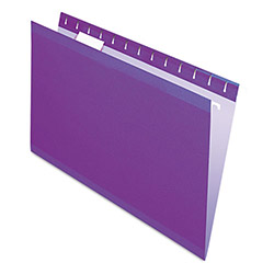 Pendaflex Reinforced Hanging Folders, 1/5 Tab, Legal, Violet, 25/Box