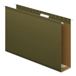"Pendaflex Reinforced 3"" Extra Capacity Hanging Folders, Legal, Standard Green, 25/Box"