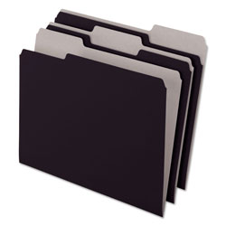 Pendaflex Recycled Interior File Folders, Black, 1/3 Cut, Letter, 100/Box