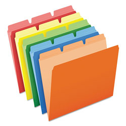 Pendaflex Ready-Tab File Folders, 1/3 Cut Top Tab, Letter, Assorted Colors, 50/Pack