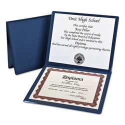 Oxford Diploma Cover, 12 1/2 x 10 1/2, Navy