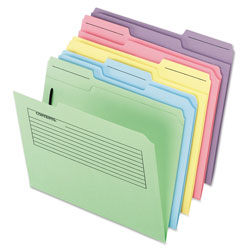 Pendaflex Printed Notes Folders with Fastener, 1/3 Cut Top Tab, Letter, Assorted, 30/Pack