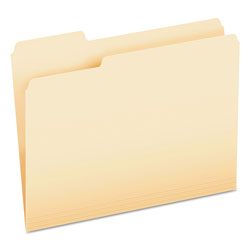 Pendaflex CutLess File Folders, 1/3 Cut Top Tab, Letter, Manila, 100/Box