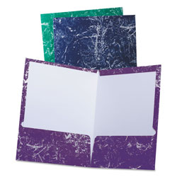 Oxford Marble High Gloss Portfolio, Charcoal/Green/Navy/Purple