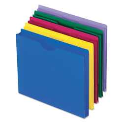 Pendaflex Expanding File Jackets, Letter, Poly, Blue/Green/Purple/Red/Yellow, 10/Pack