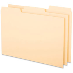 "Oxford Index Card Guides, Blank, 1/3 Cut, 8""x5"", Buff"
