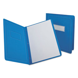 Oxford Report Cover, 3 Fasteners, Panel and Border Cover, Letter, Light Blue, 25/Box