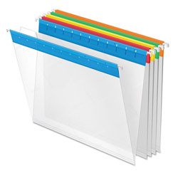 Esselte EasyView Poly Hanging File Folders, 1/5 Tab, Letter, Assorted Colors, 25/Box