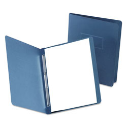 "Oxford Paper Report Cover, Large 2 Prong Fastener, Letter, 3"" Capacity, Dk Blue, 25/Box"