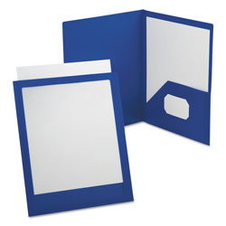 Esselte ViewFolio Polypropylene Portfolio, 50-Sheet Capacity, Blue/Clear