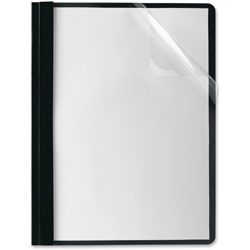 Oxford Clear Front Report Cover, Black, Box of 25
