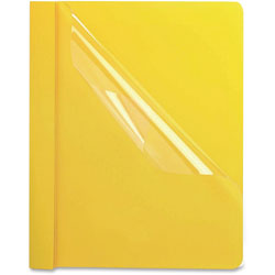 Oxford Clear Front Report Cover, Yellow, Box of 25