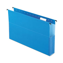 "Pendaflex SureHook Reinforced Hanging Box Files, 2"" Expansion, Legal, Blue, 25/Box"