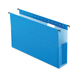"Pendaflex SureHook Reinforced Hanging Box Files, 3"" Expansion, Legal, Blue, 25/Box"