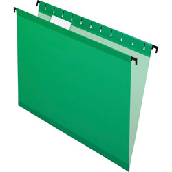 Pendaflex Poly Laminate Hanging Folders, Letter, 1/5 Tab, Bright Green, 20/Box