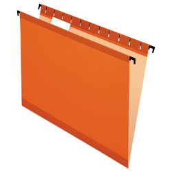 Pendaflex Poly Laminate Hanging Folders, Letter, 1/5 Tab, Orange, 20/Box