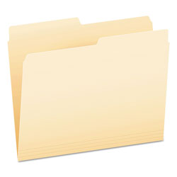 Pendaflex Top Tab File Folders, 1/3 Cut Top Tab, Letter, Manila, 100/Box