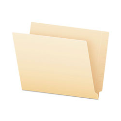 Pendaflex End Tab File Folders, Straight Tab, Letter, Manila, 75/Box