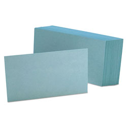 Oxford Unruled Index Cards, 3 x 5, Blue, 100/Pack
