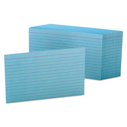 Oxford Ruled Index Cards, 4 x 6, Blue, 100/Pack