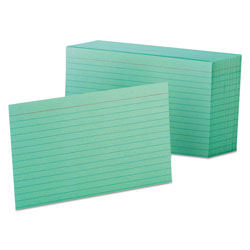 Oxford Ruled Index Cards, 4 x 6, Green, 100/Pack