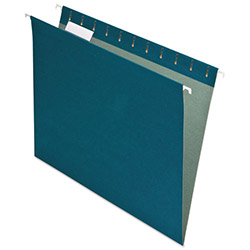 Pendaflex Earthwise Recycled Hanging File Folders, 1/5 Tab, Letter, Blue, 25/Box
