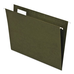 Pendaflex Earthwise Recycled Hanging File Folders, 1/5 Tab, Letter, Green, 25/Box