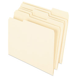 Pendaflex Earthwise 100% Recycled Paper File Folder, 1/3 Cut, Letter, Manila, 100/Box