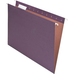 Pendaflex Earthwise Recycled Hanging File Folders, 1/5 Tab, Letter, Violet, 25/Box