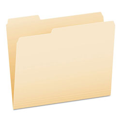 Pendaflex File Folders, 1/3 Cut, First Position, Top Tab, Letter, Manila, 100/Box