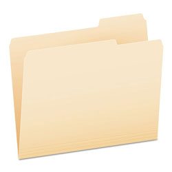 Pendaflex File Folders, 1/3 Cut, Third Position, Top Tab, Letter, Manila, 100/Box
