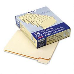 TOPS Manila File Folders, Recycled, Top Tab, 1/5 Cut, Assorted, Letter, 100/Box