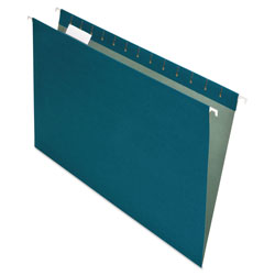 Pendaflex Earthwise Recycled Hanging File Folders, 1/5 Tab, Legal, Blue, 25/Box