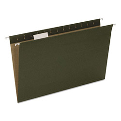 Pendaflex Earthwise Recycled Hanging File Folders, 1/5 Tab, Legal, Green, 25/Box