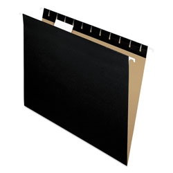 Pendaflex Essentials Colored Hanging Folders, 1/5 Tab, Letter, Black, 25/Box