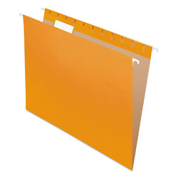 Pendaflex Essentials Colored Hanging Folders, 1/5 Tab, Letter, Orange, 25/Box