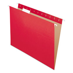 Pendaflex Essentials Colored Hanging Folders, 1/5 Tab, Letter, Red, 25/Box