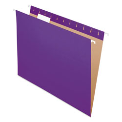 Pendaflex Essentials Colored Hanging Folders, 1/5 Tab, Letter, Violet, 25/Box
